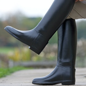 Shires Waterproof Rubber Childrens Long Riding Boots - Black