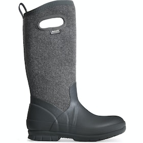 Bogs Crandall Tall Wool Ladies Wellies - Dark Grey