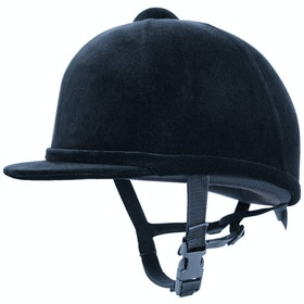 Charles Owen Young Rider Kinder Velvet Hat - Navy