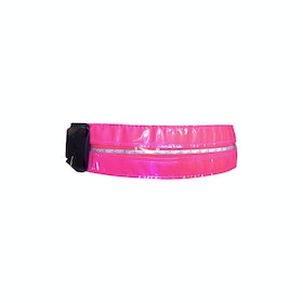 Equisafety LED Flashing Hat Reflective Band - Pink