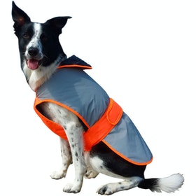 Equisafety Mercury Dog Jacket - Red Orange