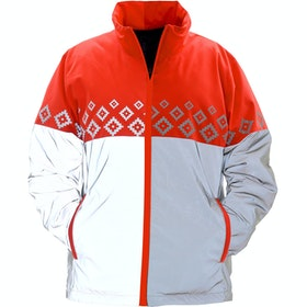 Chaqueta reflectante Equisafety Luminosa Reversible - Red Orange