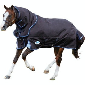Weatherbeeta ComFiTec Ultra Cozi Detach A Neck Medium Turnout Rug - Charcoal Blue White
