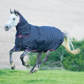 Shires Tempest 200g Combo Turnout Rug - Charcoal Pink