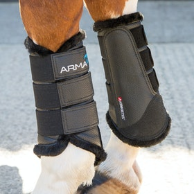 Shires ARMA Fur Trimmed Brushing Boot - Black