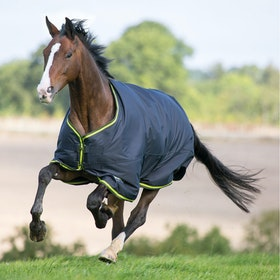 Shires Tempest Original 200g Turnout Rug - Charcoal Lime