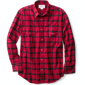 Filson Alaskan Guide Shirt - Red Black Plaid