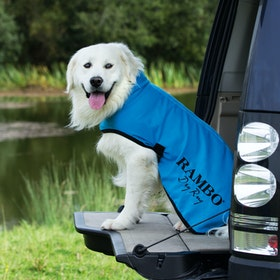 Rambo Dry Rug Dog Jacket - Blue Black White
