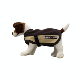 Rambo Deluxe Dog Jacket - Whitney Stripe Chocolate
