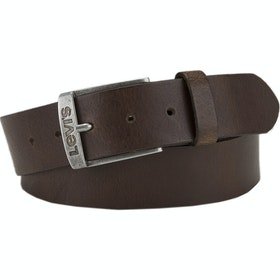 Levi's New Duncan Leather Belt - Dark Brown