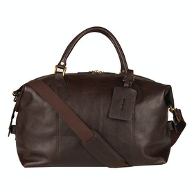 Barbour Leather Travel Explorer Duffle Bag - Chocolate
