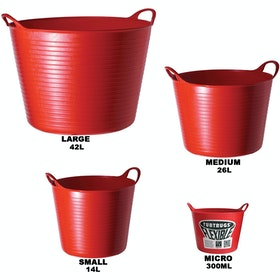 Red Gorilla TubTrug Flexible Tub - Red