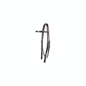 Ogłowie Jeffries Falcon Plain Headstall With 3 Quarter Cheeks - havana