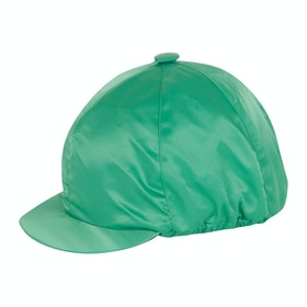 Racesafe Satin with Button Hat Cover - Bottle Green