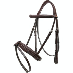 John Whitaker Eastwood Raised Flash Snaffle Bridle - Havana