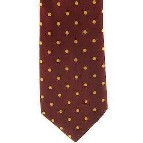 Showquest Lurex Spot Tie - Burgundy Gold