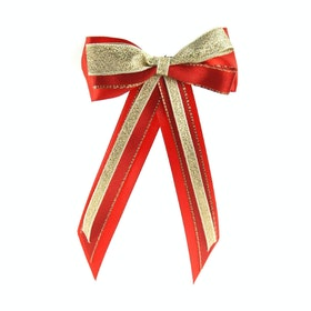 Bow Showquest Hairbow and Tails - Red Gold