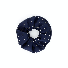 Showquest Lurex Spot Scrunchie - Navy Gold