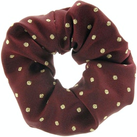 Showquest Lurex Spot Scrunchie - Burgundy Gold