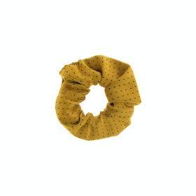 Showquest Pin Spot Scrunchie - Sunshine Navy