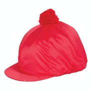 Racesafe Satin Plain with Pom Pom Silk Hat Cover