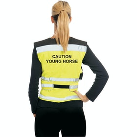 Equisafety Caution Young Horse Air Reflective Waistcoat - Yellow
