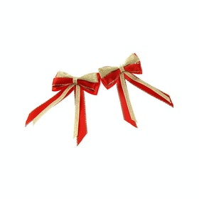 Showquest Piggy Bow and Tails Bow - Red Gold