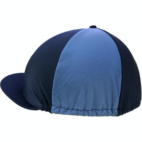 Shires Stretch Hat Cover - Navy Cambridge