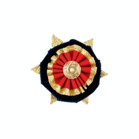 Showquest Boston Button Hole - Navy Red Gold