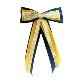 Showquest Hairbow and Tails Bow - Navy Sunshine Gold