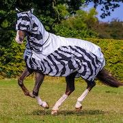 Bucas Buzz Off Rain Zebra Full Neck Fluedækken