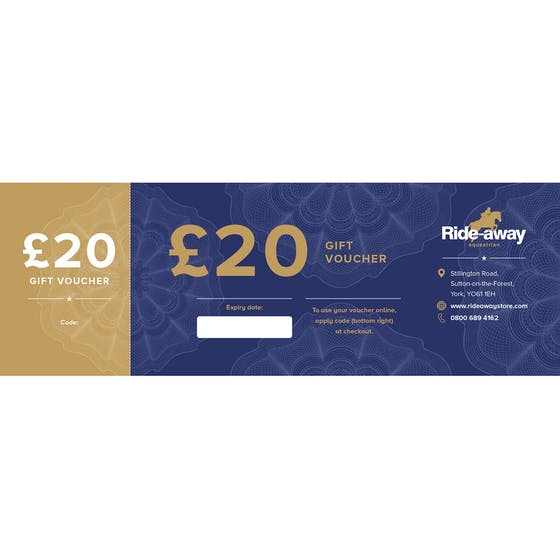 Gift Vouchers from Ride-away Equestrian