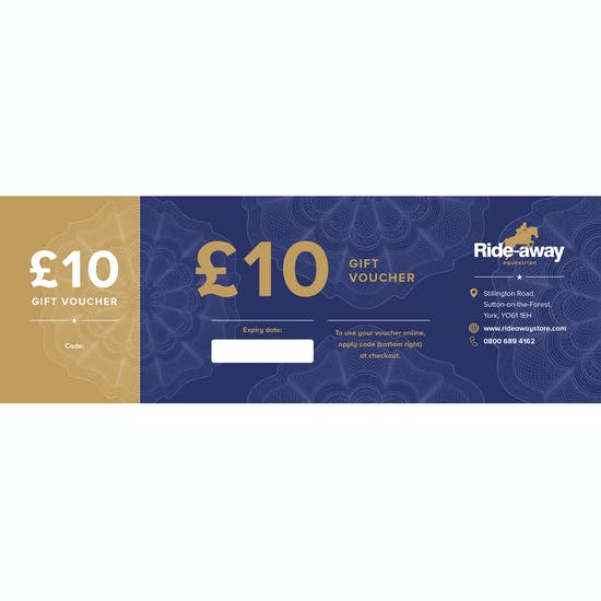 Ride-away GBP 10.00 Gift Voucher