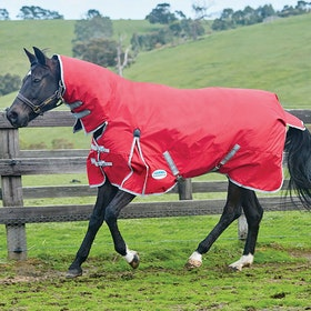 Weatherbeeta ComFiTec Classic Combo Lite Turnout Rug - Red Silver Navy