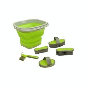 Roma Bucket Grooming Kit - Green