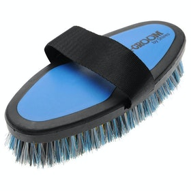 Shires Ezi-Groom Body Brush - Bright Blue