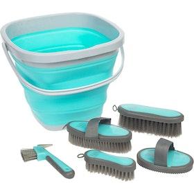 Roma Bucket Grooming Kit - Light Blue