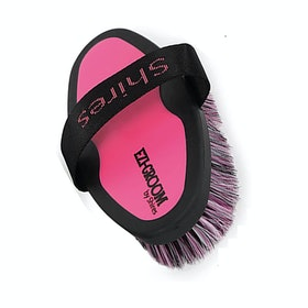 Shires Ezi-Groom Body Brush - Bright Pink