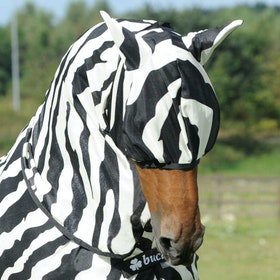 Bucas Buzz off Zebra Fly Mask - zebra
