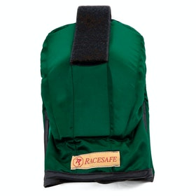 Racesafe RS210 with Medical Card Holder Shoulder Protectors - green