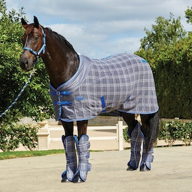 Weatherbeeta Standard Neck Cooler Fleece Rug - Grey Plaid