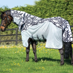 Amigo 3 in 1 Vamoose Fly Rug - Silver Black