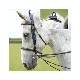 Shires Elastic Training Reins - Black