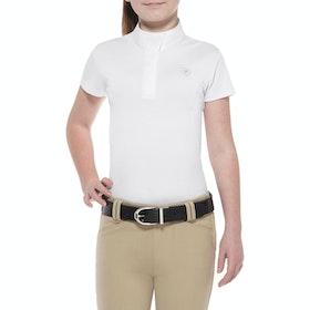 Ariat Aptos Short Sleeve Girls Competition Shirt - White