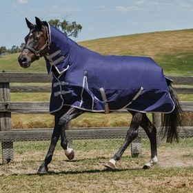 Weatherbeeta ComFiTec Essential Lite Combo Turnout Rug - Navy Silver Red