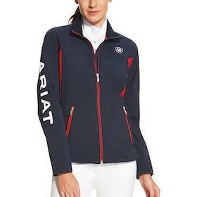 Ariat Team II Ladies Softshell Jacket - Navy Red