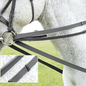 Shires Cotton Web Draw Reins - Black