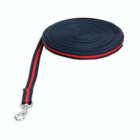 Shires Wessex Soft Feel Lunge Line - Navy Red