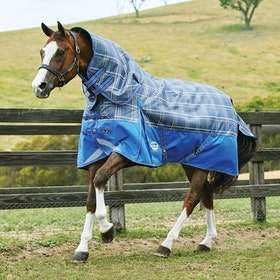 Weatherbeeta ComFiTec Premier Trio Medium Detach-A-Neck Turnout Rug - Grey Plaid