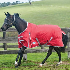 Weatherbeeta ComFiTec Classic Lite Standard Neck Turnout Rug - Red Silver Navy